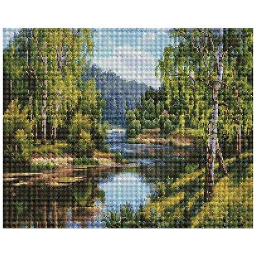 Купить Алмазная вышивка «У реки», 40x50 см, Painting Diamond, Алмазная живопись, Алмазная мозаика