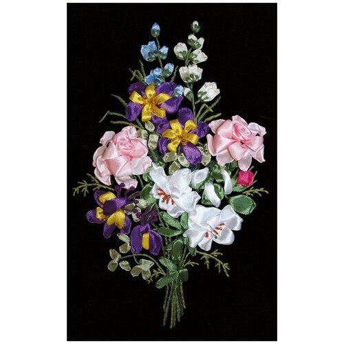 Купить Набор для вышивания лентами PANNA Праздник цветов (C-1046), Наборы для вышивания
