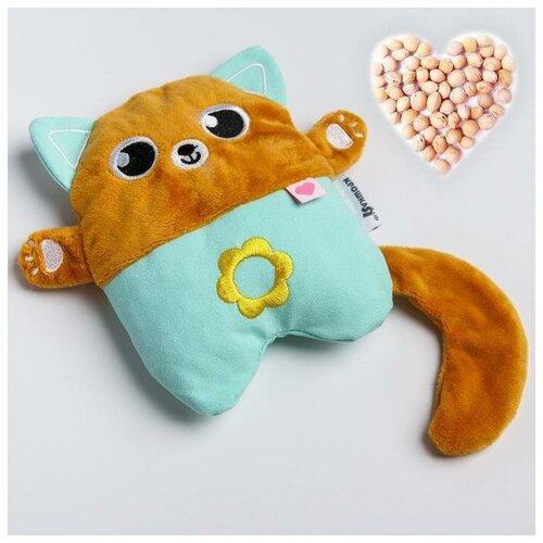 Крошка Я Развивающая игрушка - грелка с вишнёвыми косточками «Котик»