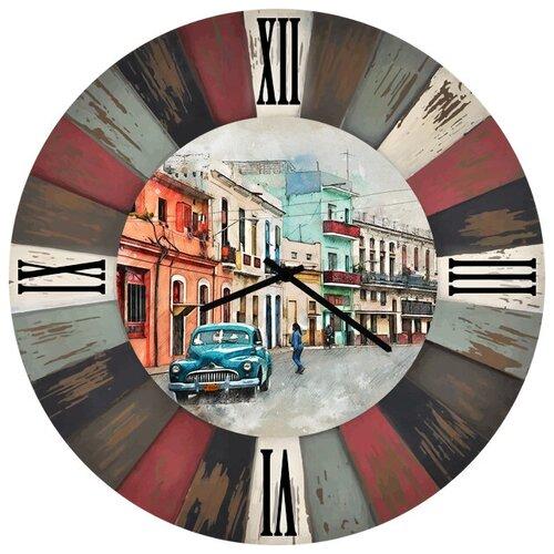 SvS Настенные часы SvS 3002218 Фото города с машиной