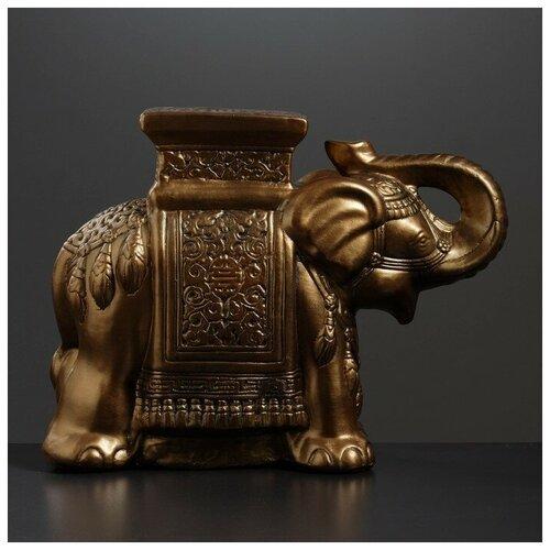 Хорошие сувениры Фигура - подставка Слон бронза 21х54х43см фигура подставка слон с листком бронза золото 30х30х30см