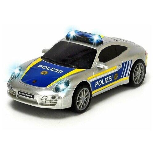 dickie toys машинка трансформер боевой трейлер optimus prime Dickie Toys Полицейская машинка Porsche фрикционная, 15 см, свет, звук