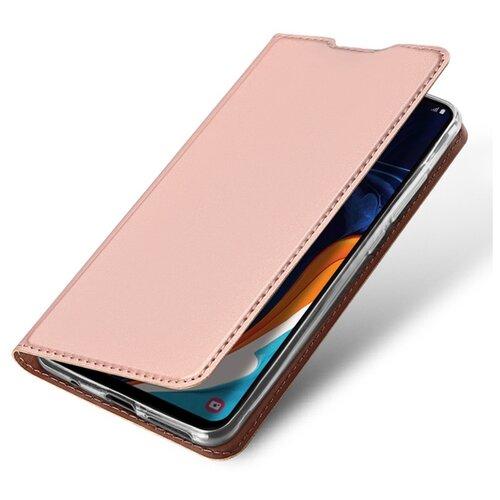 Чехол книжка Dux Ducis для Xiaomi Redmi Note 10 / 10S, розовое золото