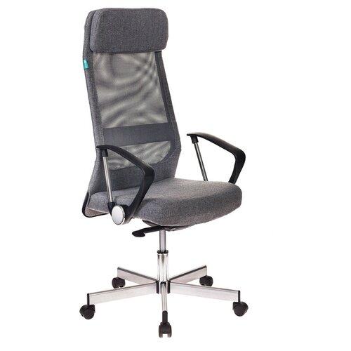 Компьютерное кресло Бюрократ T-995HOME для руководителя, обивка: текстиль, цвет: серый