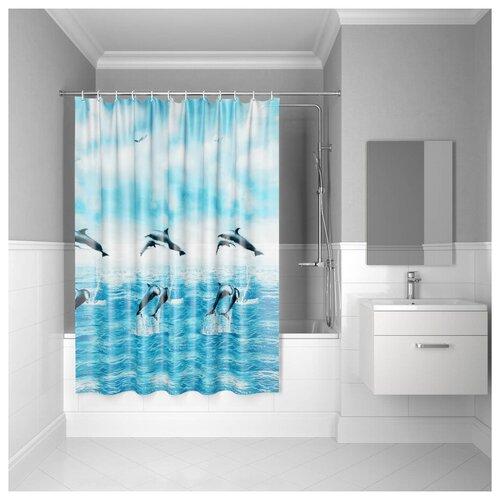 Штора для ванной комнаты, 180*180см, PEVA, P21PV11i11, IDDIS штора для ванной комнаты 180 180см peva p27pv11i11 iddis