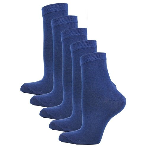 Женские Классические носки Годовой запас, 5 пар, синие, 25 (39-41)