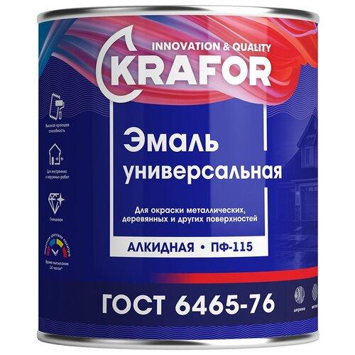 Эмаль пентафталевая / алкидная (ПФ) Krafor ПФ-115 ярко-зеленый 1.8 кг