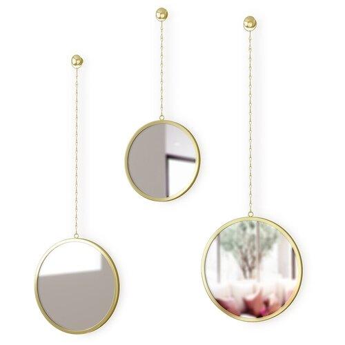 Зеркала декоративные Dima круглые латунь Umbra 1013877-104 umbra комплект зеркал dima 3 шт
