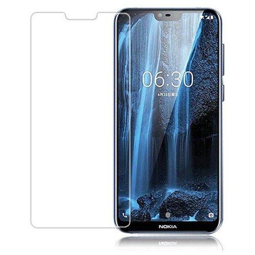 3D защитная пленка MyPads с закругленными краями которое полностью закрывает экран для телефона Nokia X6/ Nokia 6.1 Plus глянцевая