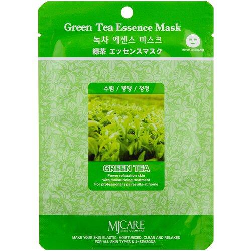 Фото - MIJIN Cosmetics тканевая маска Green Tea Essence с экстрактом зеленого чая, 23 г тканевая маска для лица с экстрактом зеленого чая green tea essence mask 21г