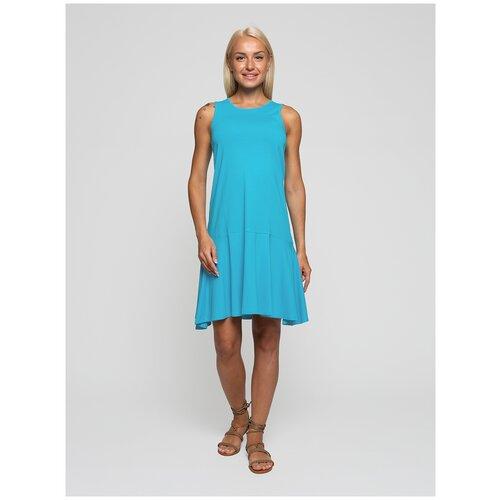 Женское легкое платье сарафан, Lunarable аквамариновое, размер 50