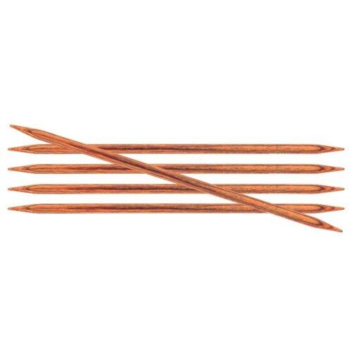 Купить Спицы Knit Pro Ginger 31029, диаметр 5 мм, длина 20 см, коричневый
