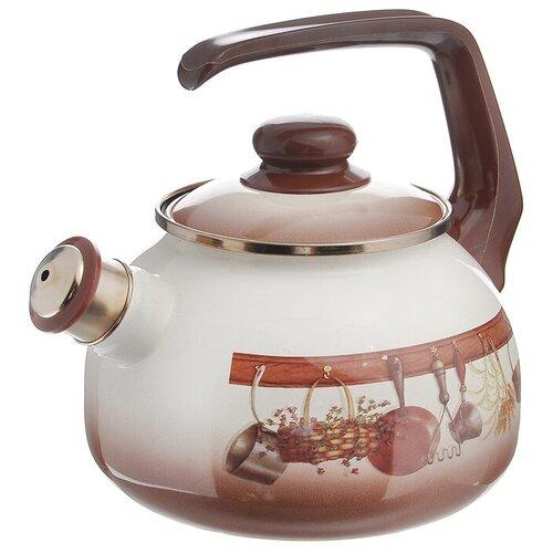Фото - METROT Чайник cо свистком Кухня 2,5 л, коричневый чайник эмалированный со свистком 2 5 л metrot таково кухня 115432