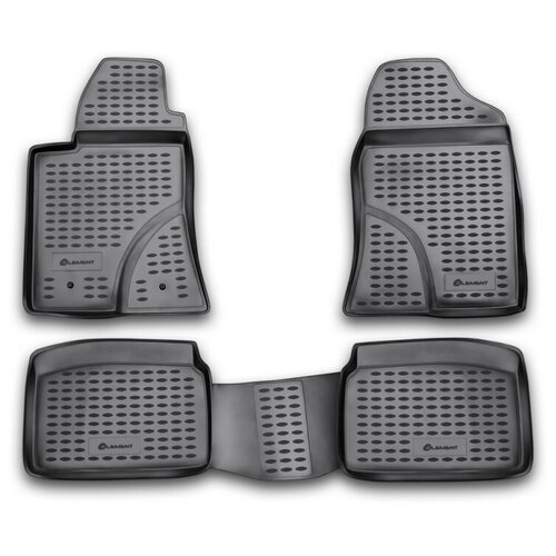коврики в салон element toyota hilux 2011 2015 4 шт nlc 48 52 210k Коврики в салон Element TOYOTA Avensis 04/2003-2009, 4 шт. (полиуретан, серые), NLC.48.04.211k