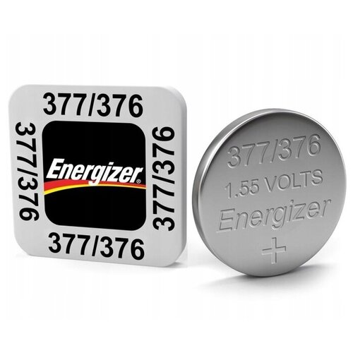 Фото - Батарейка Energizer 377/376, 10 шт. батарейка energizer max plus aa 4 шт