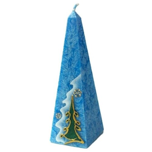 Свеча Мир свечей Новогодний этюд (63-284) синий