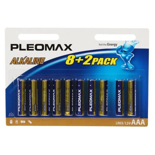 Фото - Батарейка Pleomax AAA LR03, 10 шт. батарейка duracell procell aaa lr03 кол во в упаковке 10 шт