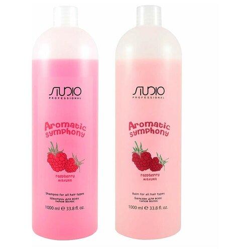Купить Kapous Набор для всех типов волос Малина (шампунь 1000 мл + бальзам 1000 мл), Kapous Professional