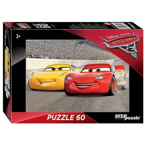 Фото - Пазл Step puzzle Disney Тачки - 3 (81171), 60 дет. пазл шар тачки disney 60 деталей