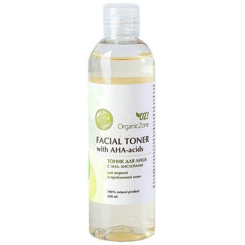 Купить OZ! OrganicZone Тоник для лица с АНА-кислотами для жирной и проблемной кожи, 250 мл