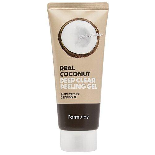 Купить Farmstay пилинг-гель для лица Deep Clear Peeling Gel Real Coconut 100 мл