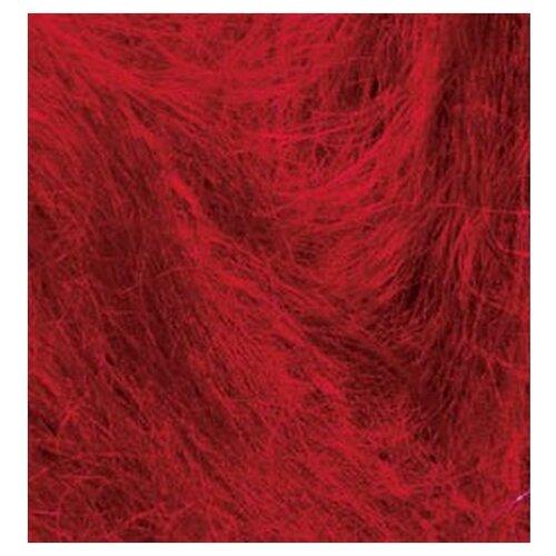 Купить Пряжа для вязания Ализе Mohair classic NEW (25% мохер, 24% шерсть, 51% акрил) 5х100г/200м цв.056 красный, Alize