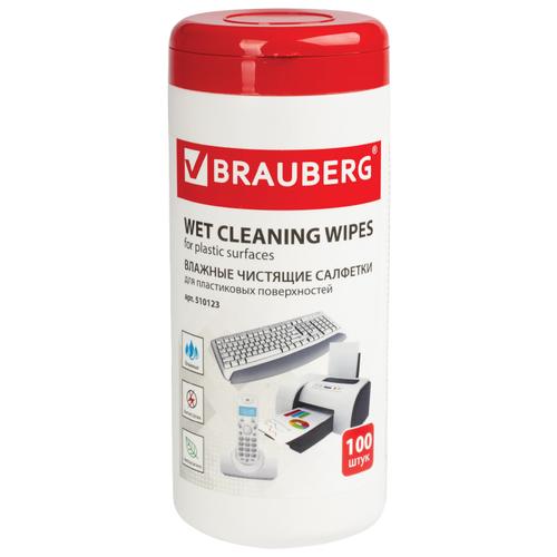 Фото - BRAUBERG Power Clean 510123 влажные салфетки 100 шт. для оргтехники, для клавиатуры салфетки opti clean 50 для всех типов экранов с клапаном 50 шт 72015