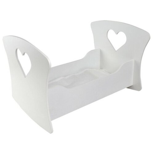 Фото - PAREMO Люлька для кукол Сердце (PFD120) белый paremo набор мебели для кукол цветок pfd120 45 pfd120 46 pfd120 44 pfd120 42 pfd120 43 белый фиолетовый