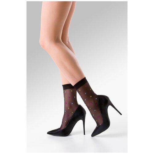 Капроновые носки Gabriella Joy 701, размер One size, nero/color