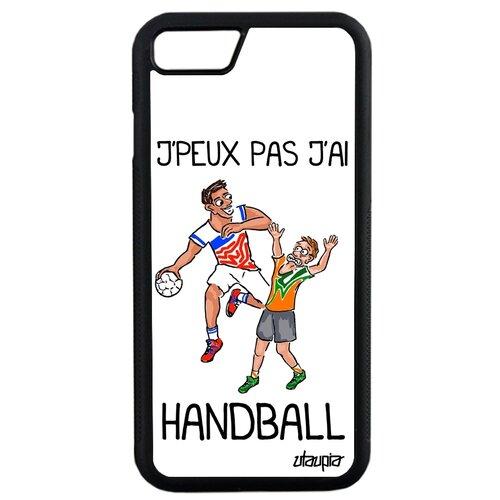 "Чехол для мобильного iPhone SE 2020, ""Не могу - у меня гандбол!"" Юмор Карикатура"