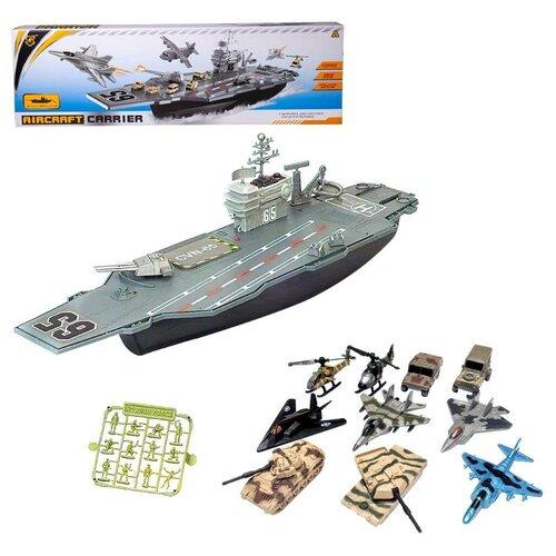 Купить Набор игровой Junfa Авианосец (собери сам) (корабль, самолеты, военная техника, акссесуары), Junfa toys, Машинки и техника