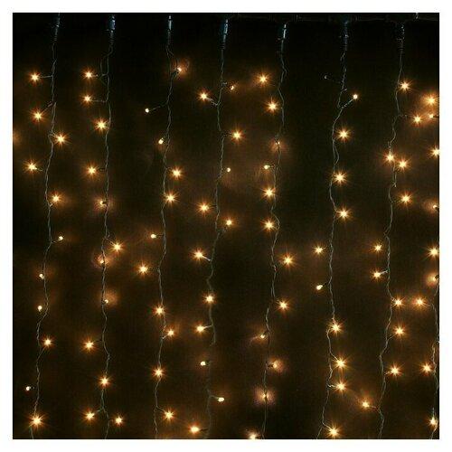 Гирлянда Sh Lights занавес с микролампами 240 см, 625 ламп, белый/зеленый провод