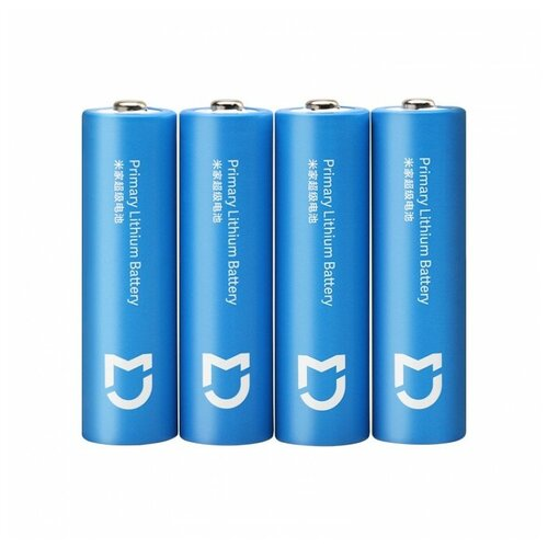 Фото - Батарейки Xiaomi Mijia Super Battery Pack (4 шт, AA) FR6AA аккумуляторные батарейки xiaomi zmi zi5 aa aa512 4шт в упак 1700 мач
