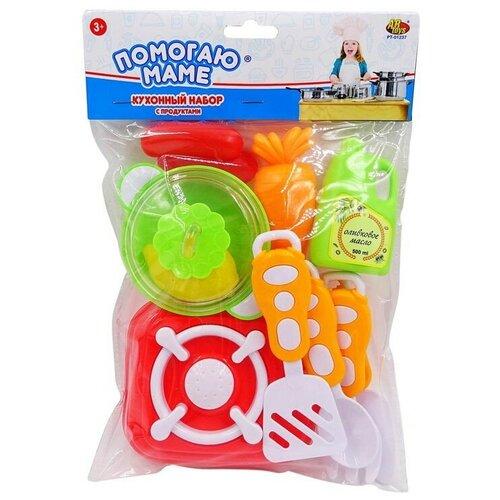 Фото - Игровой набор ABtoys Помогаю маме PT-01237 зеленый/оранжевый/красный/желтый/белый игровой набор abtoys s 00183 черный белый 6 шт