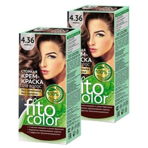 Купить Fito косметик Fitocolor крем-краска для волос набор 2 шт., 4.36 мокко
