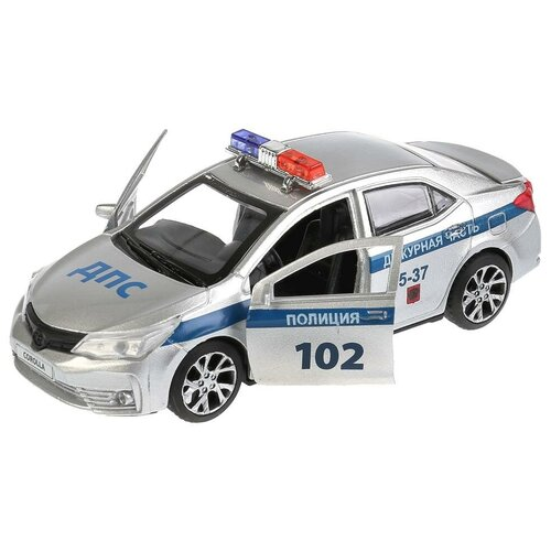Легковой автомобиль ТЕХНОПАРК Toyota Corolla (COROLLA-P), 12 см, серебристый