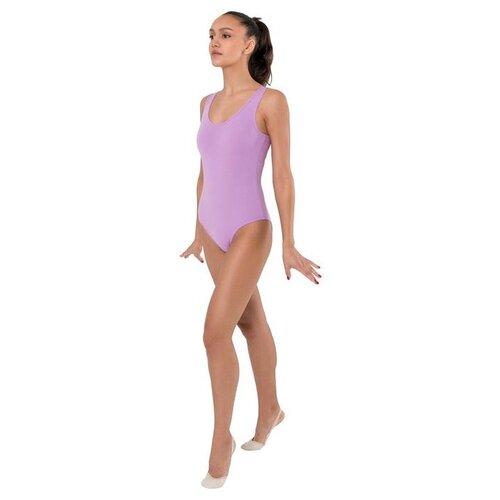 Купальник гимнастический на широких бретелях, р.44 цвет фиалковый 6302595