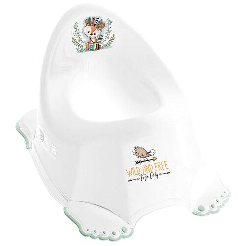 Купить Горшок Tega ДИКИЙ ЗАПАД антискользящий, лисенок, белый, зеленый, Tega Baby, Горшки и сиденья