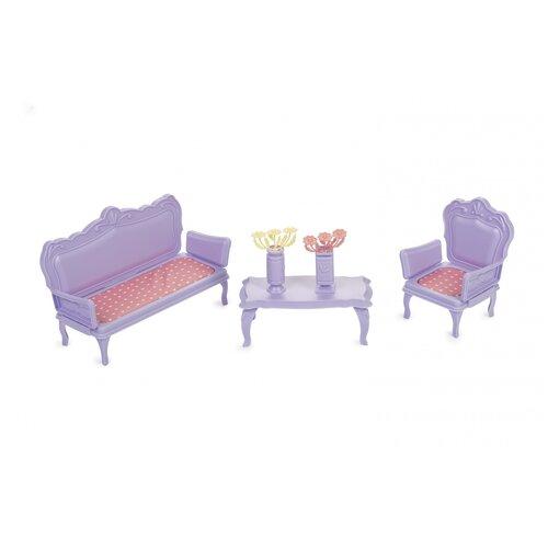 Купить Мебель для кукол Огонек Маленькая принцесса , (светло-сиреневая) (С-1527), ОГОНЁК