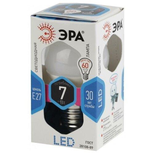 Фото - Лампа светодиодная ЭРА LED P45-7W-840-E27 7Вт Е27 4000К Б0020554 2 штуки эра led p45 7w 840 e14 б0020551