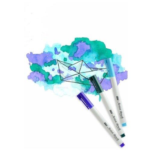 Marvy Uchida / Набор акварельных маркеров д/скетчинга (8,25,36) DREAM 3 цвета/уп.