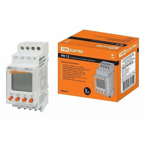 Реле напряжения 3ф серии РН 12-3х400/230В (LCD-дисплей, 1нр+1нз-контакты) TDM