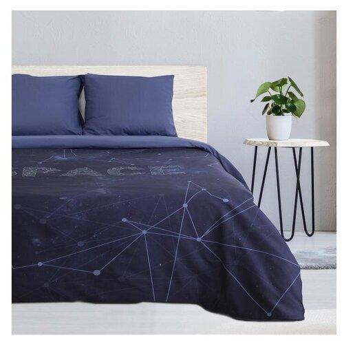 Фото - Постельное белье 2-спальное Этель Space, поплин, синий этель комплект постельного белья этель red planet 2 спальное
