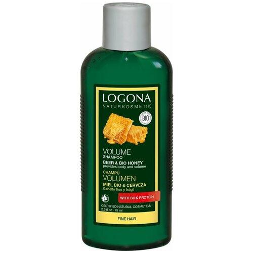 Фото - Logona шампунь Beer & Bio honey для объема волос, 75 мл косметика для мамы logona восстанавливающее масло для волос 75 мл
