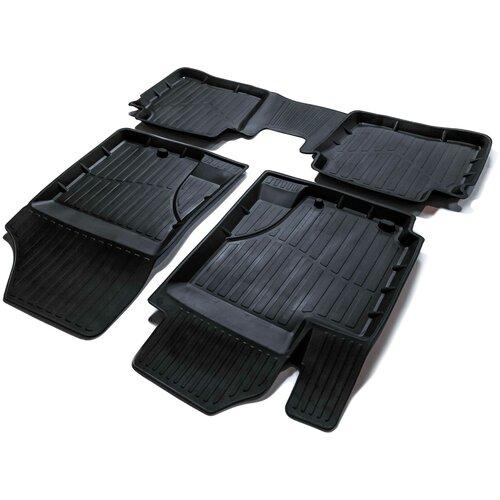 Фото - Комплект ковриков салона SRTK PR.KI.RI.11G.02030 4 шт. черный комплект ковриков салона srtk pr w pas b7 11g 02023 5 шт черный