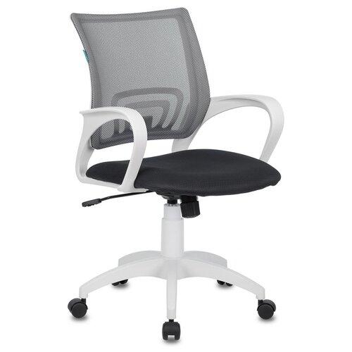 Фото - Офисное кресло Бюрократ CH-W695NLT/DG/TW-12 (Dark Grey/White) кресло бюрократ ch w695nlt на колесиках сетка ткань темно серый [ch w695nlt dg tw 12]