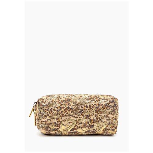 Косметичка D`Angeny, цвет золотой, натуральная кожа.
