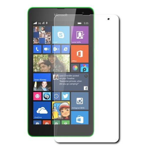 Защитная пленка MyPads (только на плоскую поверхность экрана НЕ закругленная) для телефона Microsoft Lumia 640XL глянцевая