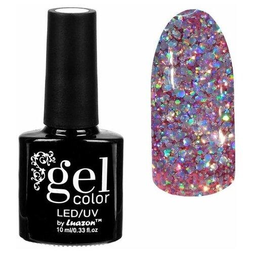 Фото - Гель-лак для ногтей Luazon Gel color Искрящийся бриллиант, 10 мл, 007 фиолетовый гель лак для ногтей luazon gel color termo 10 мл а2 076 пурпурный перламутровый