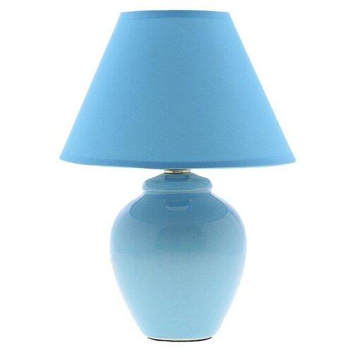 Лампа декоративная RISALUX Азалия 648552, E14, 40 Вт, цвет арматуры: синий, цвет плафона/абажура: синий